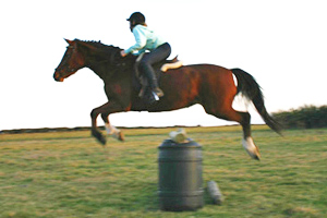 A member of the Invercargill-Kennington Pony Club, Kimberley Crack, jumping Sunny Brae Rose Maree.