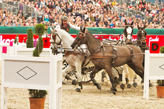 Koos de Ronde won the FEI World Cup™ Driving qualifier in Leipzig and secured a starting ticket for the series' Final (P