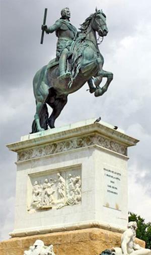 Statue of Philip IV, Madrid, c. 1640.