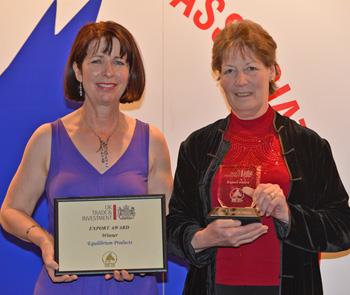 Equilibrium Products won the UKTI Export Award.