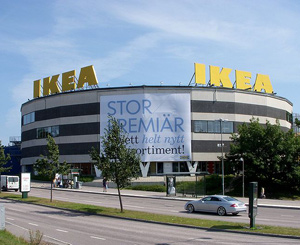The world's largest IKEA store located at Kungens Kurva in Stockholm, Sweden.