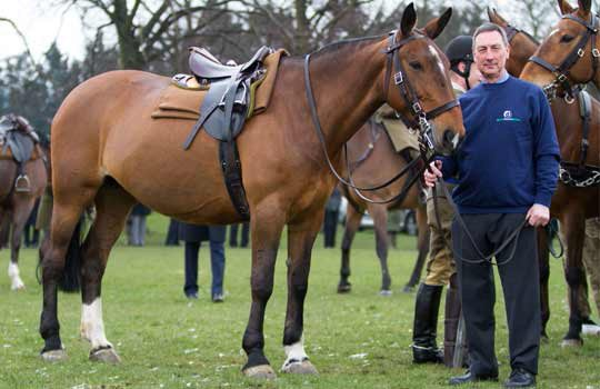 Nick White visits Penny at the King's Troop barracks before her retirement.