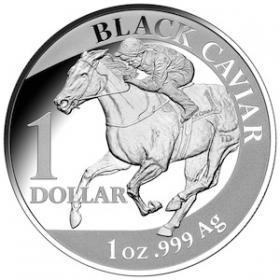 2013 $1 Silver Proof Black Caviar Coin Reverse