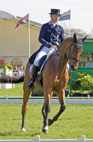 Germany's Michael Jung leads on La Biosthetique Sam.