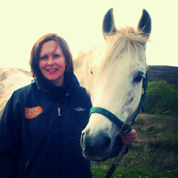 "Jacqui Smalley and pearl: ""Books are the only thing we love more than our horses!"""