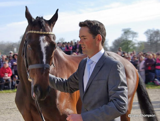Jock Paget was a little tense after having to re-present Clifton Promise at the final trot-up.