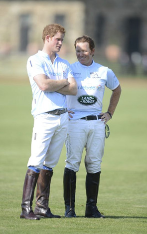 Teammates Prince Harry and Wellington's Marc Ganzi chatting before the awards ceremony.