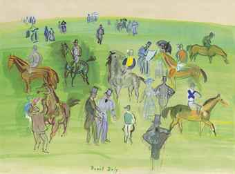 Chevaux Et Jockeys Sur La Pelouse, by Raoul Duffy.