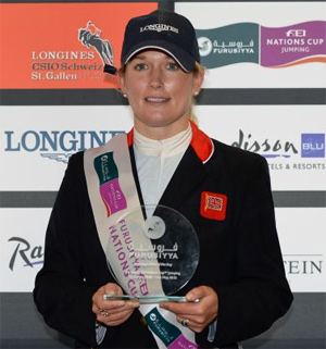 Laura Renwick won the Furusiyya Rider of the Day award.