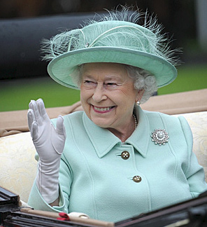 Queen Elizabeth II at Royal Ascot this week.