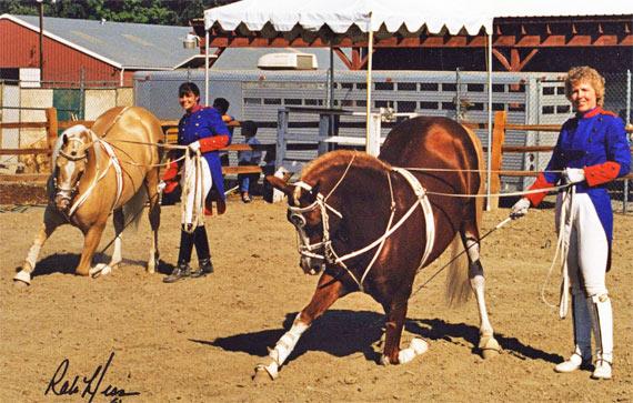 Cal Dorado preforming with his son, Go For The Gold.
