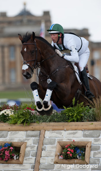 Clark Montgomery and Loughan Glen are in third going into the jumping.