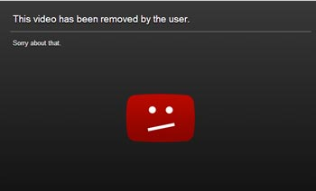 The YouTube video has been pulled offline.