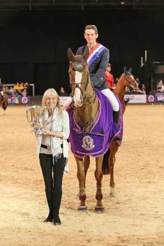 Britain's Showjumper of the Year Tinka's Serenade with Billy Twomey.