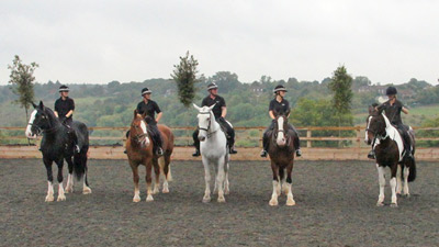 The Thames Valley Police Mounted Section took the opportunity to train in The Horse Trust's new arena.