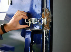 There are several options for rear door latching systems.