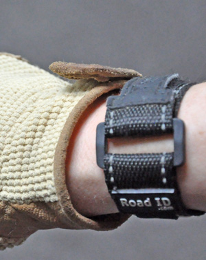 The Road ID has reflective stitching and the wristbands come in several colors.