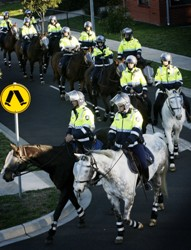 The Victoria Police Mounted Branch. Photo: Victoria Police