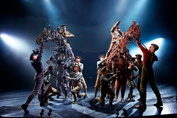 A scene from the National Theatre's stage production of War Horse. Photo: National Theatre, UK