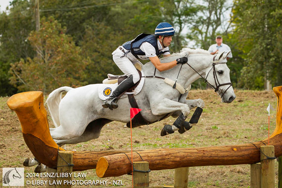 Clarke Johnstone and Balmoral Sensation during the cross-country at Kihikihi last weekend.