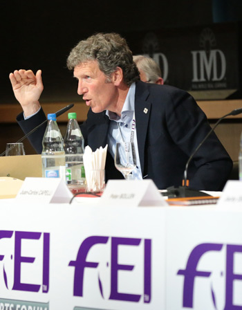Ludger Beerbaum  was on the panel of the Jumping Event Classification System held during the FEI Sports Forum.