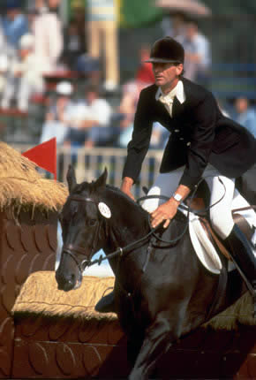 Mark Todd and Charisma in Seoul in 1988, when the pair won their second Olympic gold medal.