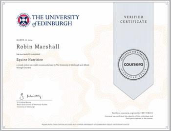 Achieved! Verified certificate using Signature Track.