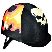 A Speed Silks helmet cover.