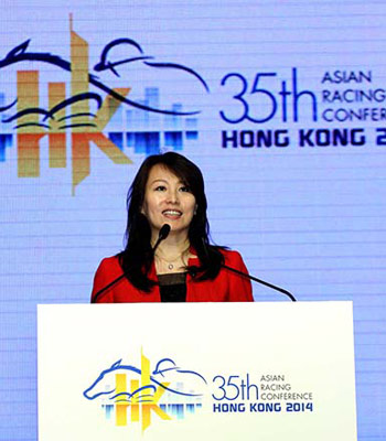 Deputy Secretary-General Tian Hua said the Chinese Equestrian Association has been actively promoting racing.
