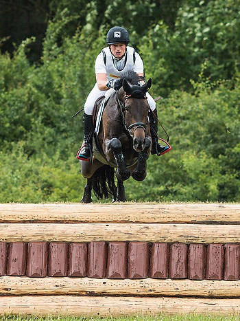 Michael Jung and the nine-year-old fischerRoscana FST lead after the Cross Country phase on home ground at Luhmühlen.  © www.eventingphoto.com/FEI