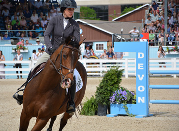 Calvin and Jane Withstandley in action at the Devon Horse Show.
