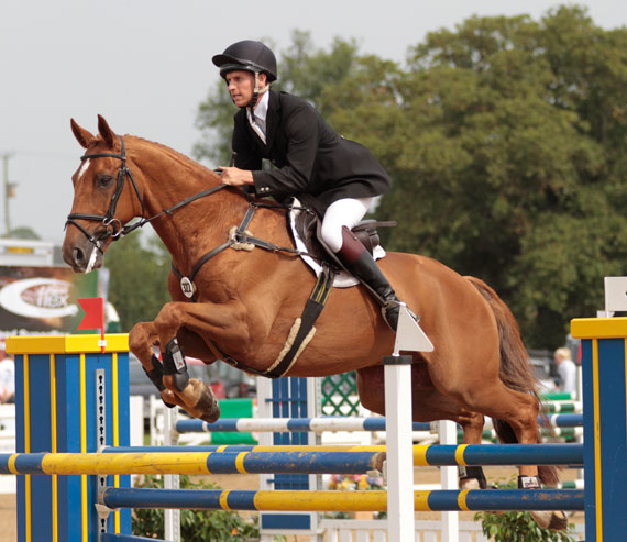 Liberal and Tom Crisp, competing in the CCI*** at Hartpury in 2012.