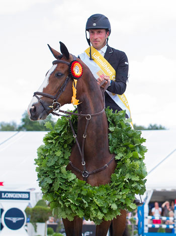 Tim Price and Wesko after taking out their first four-star three-day-event.