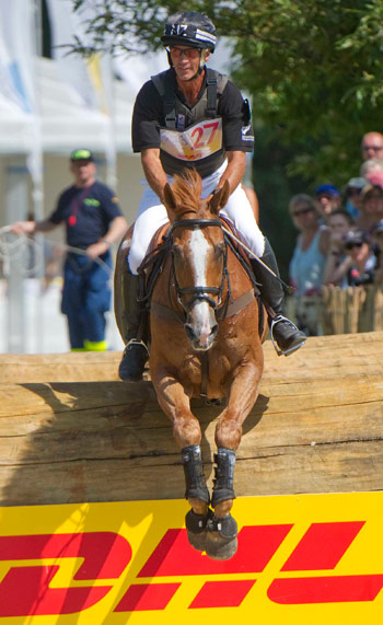 Andrew Nicholson and Nereo on the cross-country at Aachen.