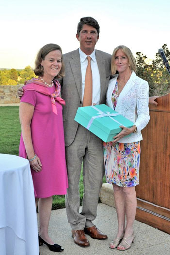Bonnie Jenkins, Philip Richter and Karen Stives at last week's United States Equestrian Team Foundation reception.