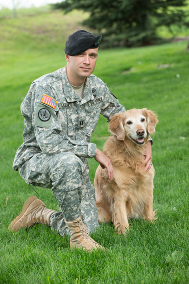 Jeff Ullmer, a new Colorado State University veterinary graduate, is now part of the US Army Veterinary Corps.