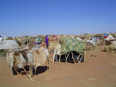 A makeshift camp in Darfur, western Sudan. Photo: USAID