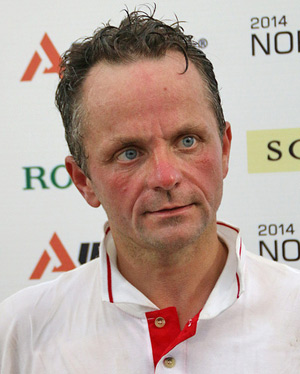 Poland's Jacek Jeruzal, who was eliminated on the cross-country on Flandia 2.