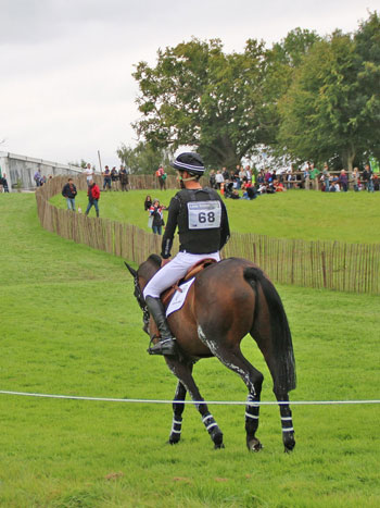 Jonathan Paget (NZL) takes Clifton Promise back to the stables, on the road to Burghley.