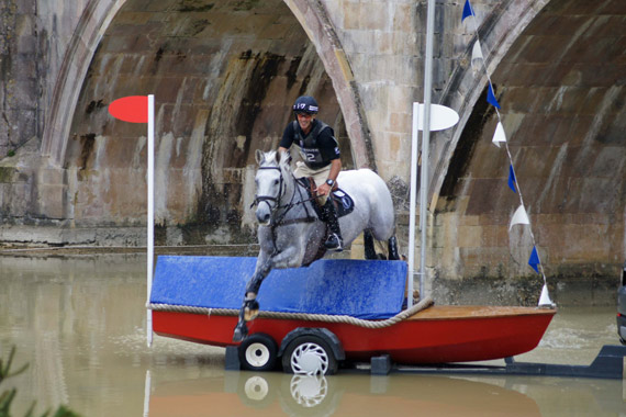 Burghley leaders Andrew Nicholson and Avebury.