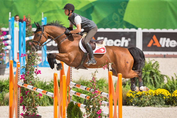 Olympic champions Steve Guerdat and Nino des Buissonnets were in fine form during Monday's training session at Stade d'Ornano in Caen, France.