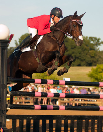 Buck Davidson and Petite Flower kept all the rails in the cups to take home the winner's share of the $40,000 Adequan USEA Gold Cup Final at the Texas Rose Horse Park.