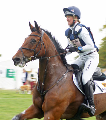Nicola Wilson (GBR) and Kiltealy Brief are 13th after the cross-country.