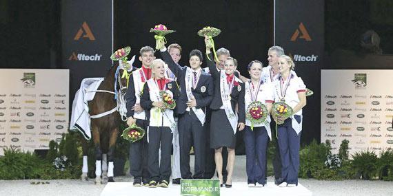 Pas De Deux medalists, Austria (gold), Germany (silver) and Great Britain (bronze).