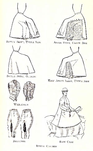 Sidesaddle riding clothes from about 1900