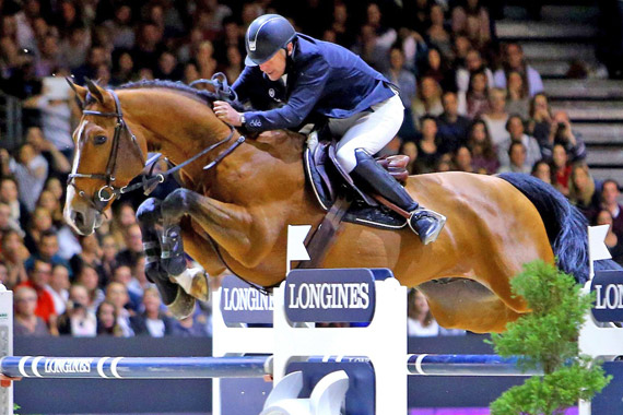 Roger Yves Bost and Qoud'Coeur de la Loge won the latest leg of the Longines FEI World Cup Jumping series in Lyon, France, on Sunday.