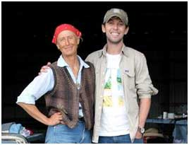 North American Long Rider Bernice Ende, left, who is currently on her eight consecutive equestrian journey and has ridden nearly 25,000 miles during the course of the last decade, was one of the Senior Long Riders who mentored Filipe.