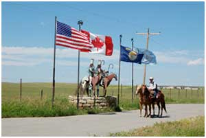 After crossing the Canadian- American border, Filipe made his way into Montana.