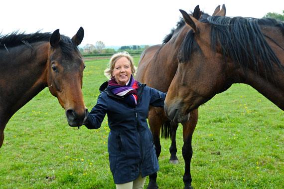 Deborah Meaden from the TV show Dragons' Den, is also a keen equestrian.