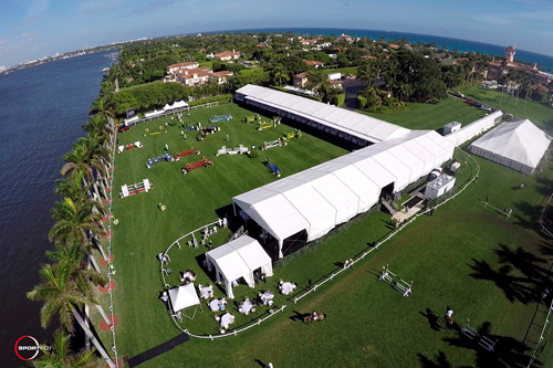 Aerial view of the Mar-a-Lago Club during Sunday's Grand Prix.